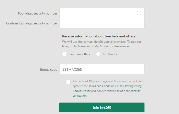 How to sign up at bet365